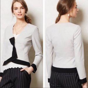 Anthro Elevenses Wool Blend Blazer Jacket